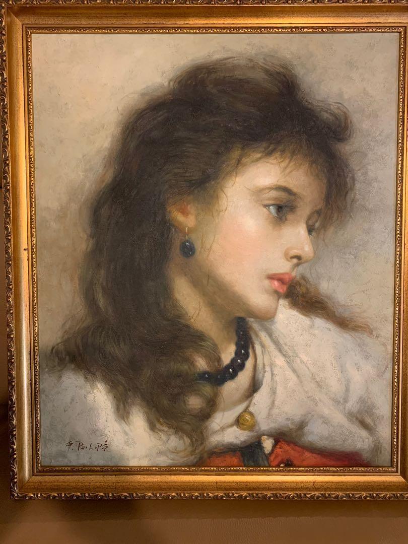 G.Philips 真跡油畫 canvas painting