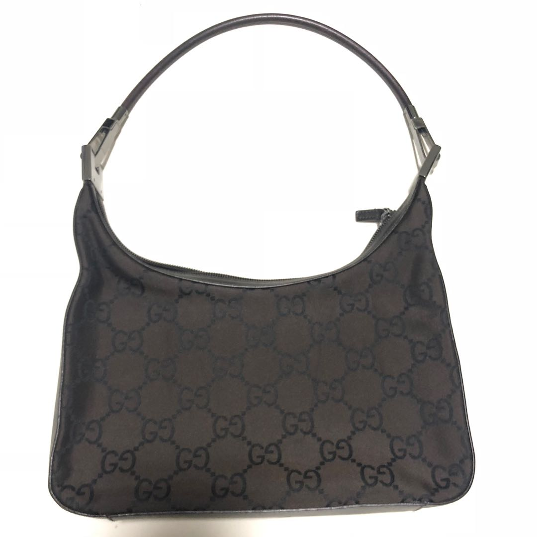c39ab003f Gucci Brown Monogram Canvas and Leather Shoulder Bag, Luxury, Bags ...