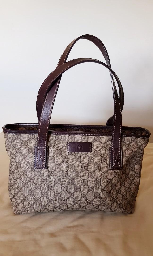 b9cc4cb429cf Now $400! ~ Gucci GG Supreme Canvas tote bag (brown), Luxury, Bags ...