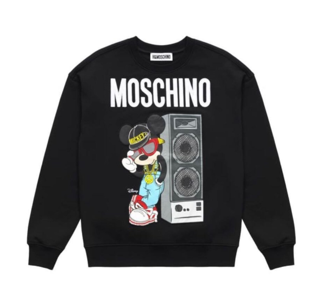 6e2091c9 H&M Moschino Mickey Sweatshirt, Men's Fashion, Clothes, Tops on ...