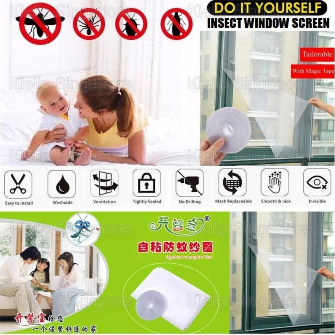Kibot-Home]DIY Mosquito Insect Window Screen Mesh Netting