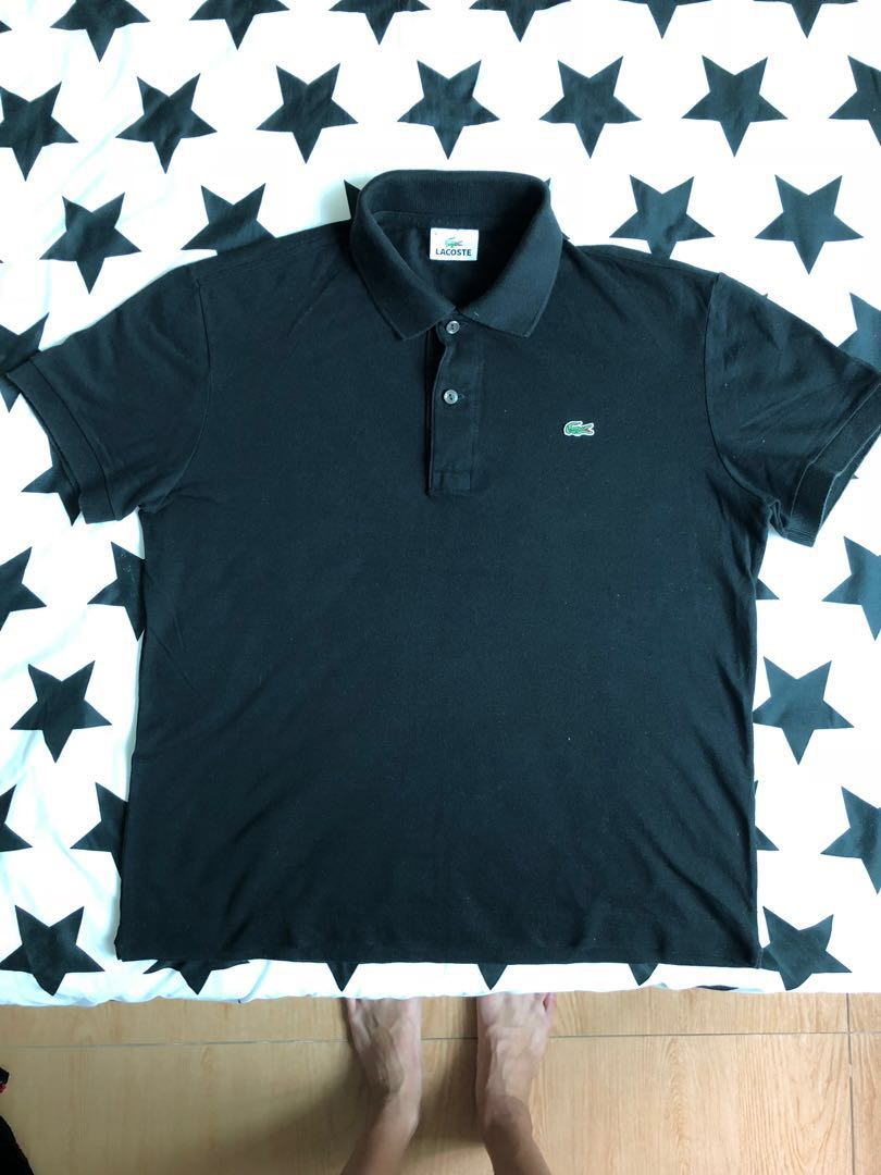 ac3739b565c7 Lacoste Slim Fit Black Polo tee, Men's Fashion, Clothes, Tops on ...