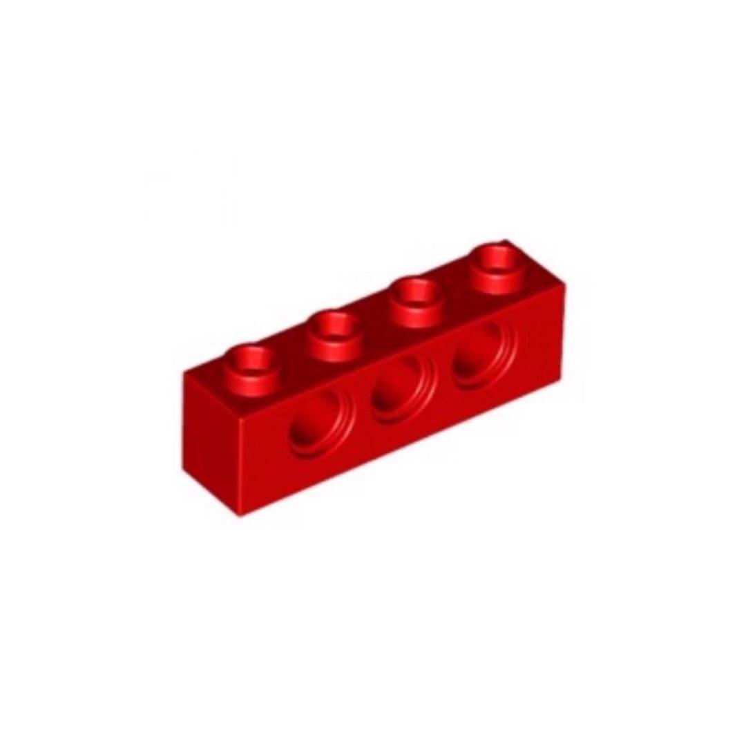LEGO Lot of 6 Red 1x4 Technic Bricks