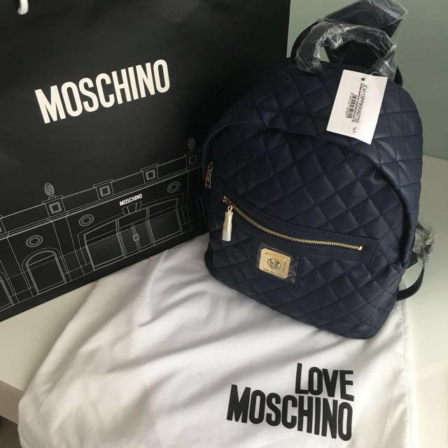 d0b9cf24e6 Love Moschino Quilted Backpack (Brand New)-Authentic , Women's ...