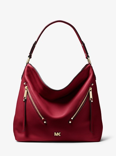 c7135d3be738 Michael Kors Evie Large Pebbled Leather Shoulder Bag