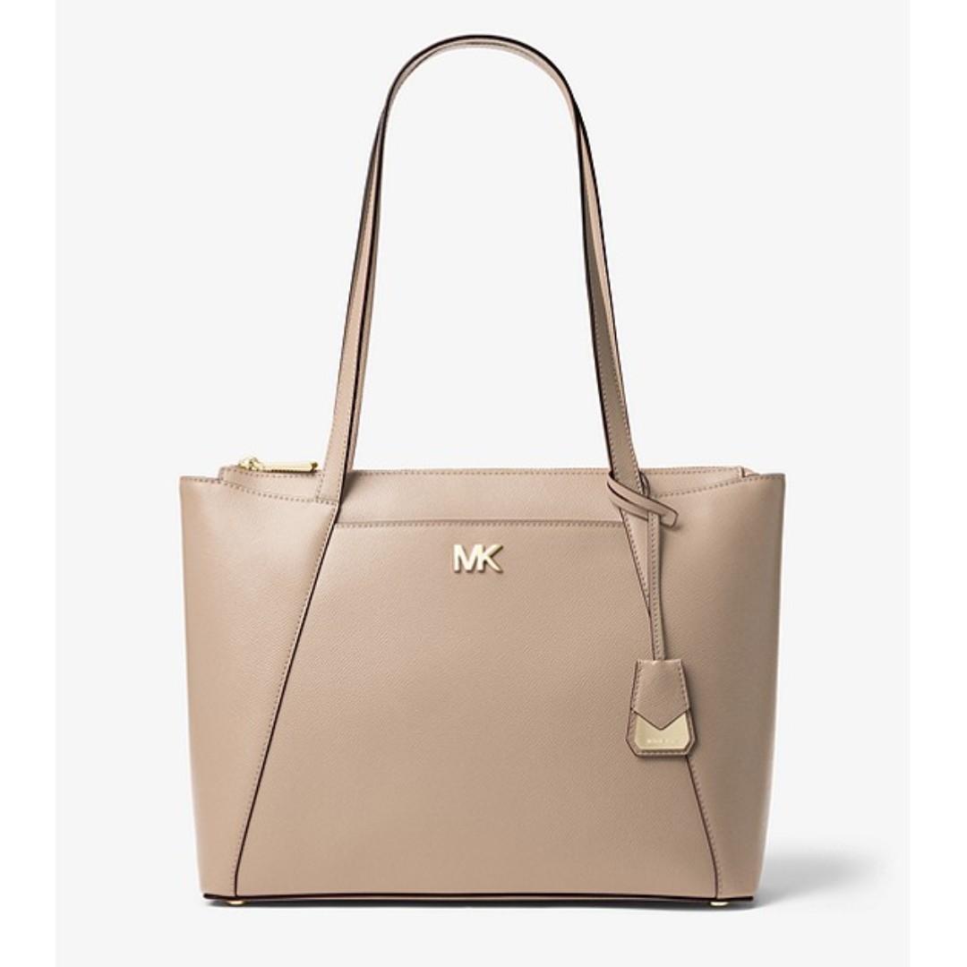 bb8304f821b08b Michael Kors Maddie Medium Crossgrain Leather Tote, Women's Fashion ...