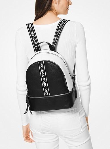 4b06c96e5d14 Michael Kors Rhea Medium Logo Tape Backpack, Luxury, Bags & Wallets ...