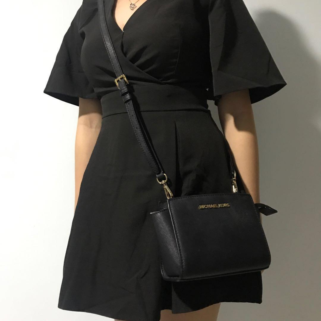 Michael Kors Selma Mini Saffiano Leather Messenger Bag
