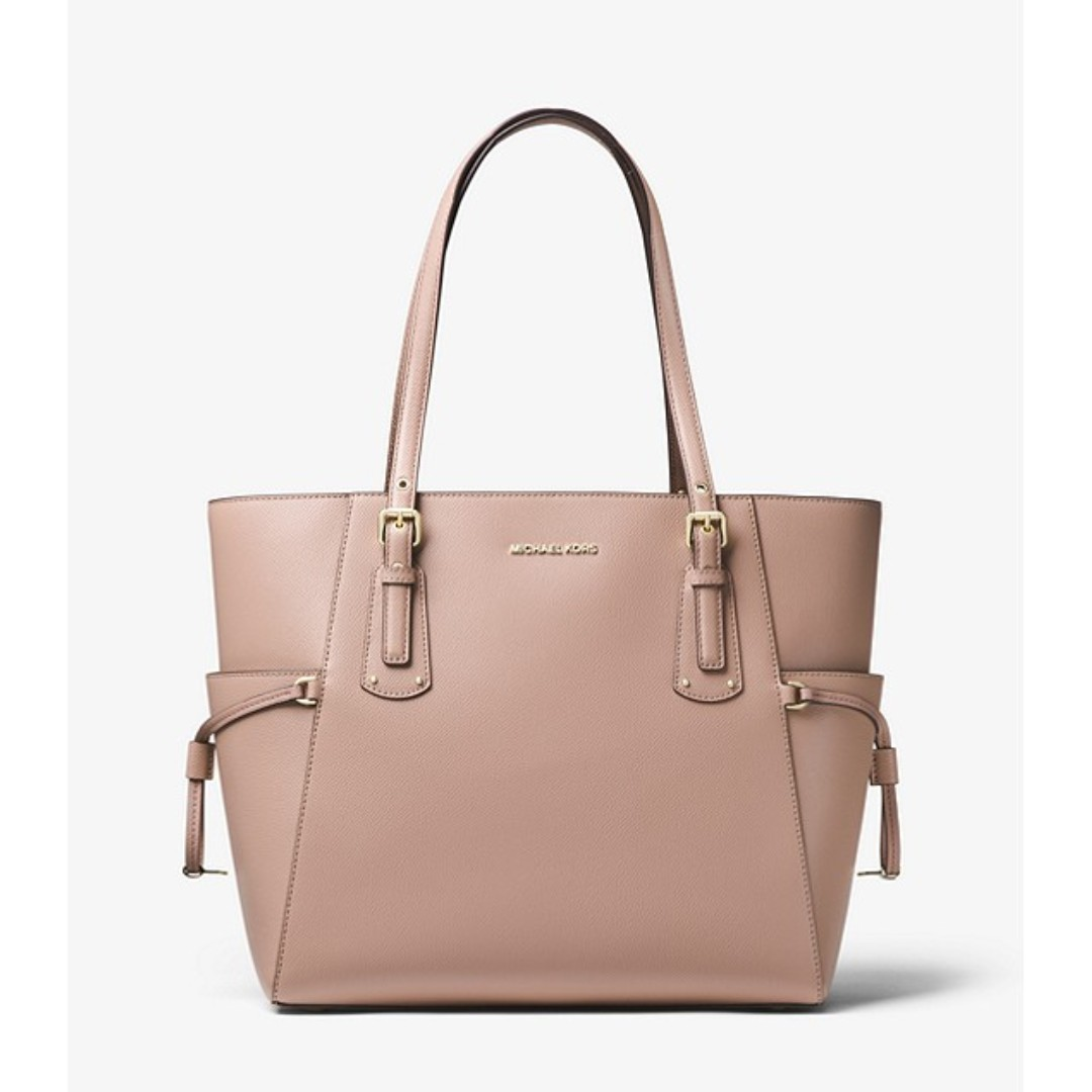 2f2a3c67b27408 Michael Kors Voyager Crossgrain Leather Tote, Women's Fashion, Bags ...
