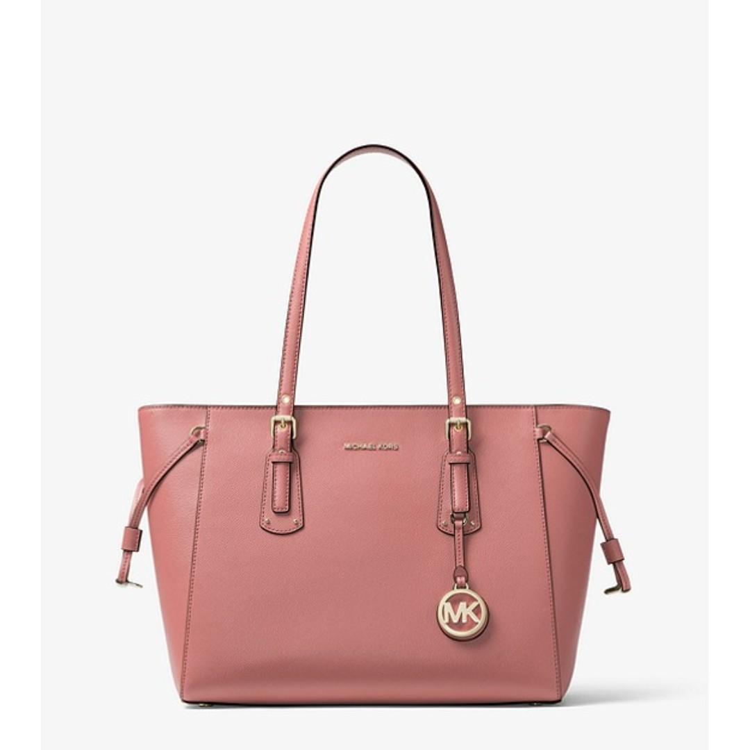 35a17de9336de0 Michael Kors Voyager Medium Crossgrain Leather Tote, Women's Fashion ...