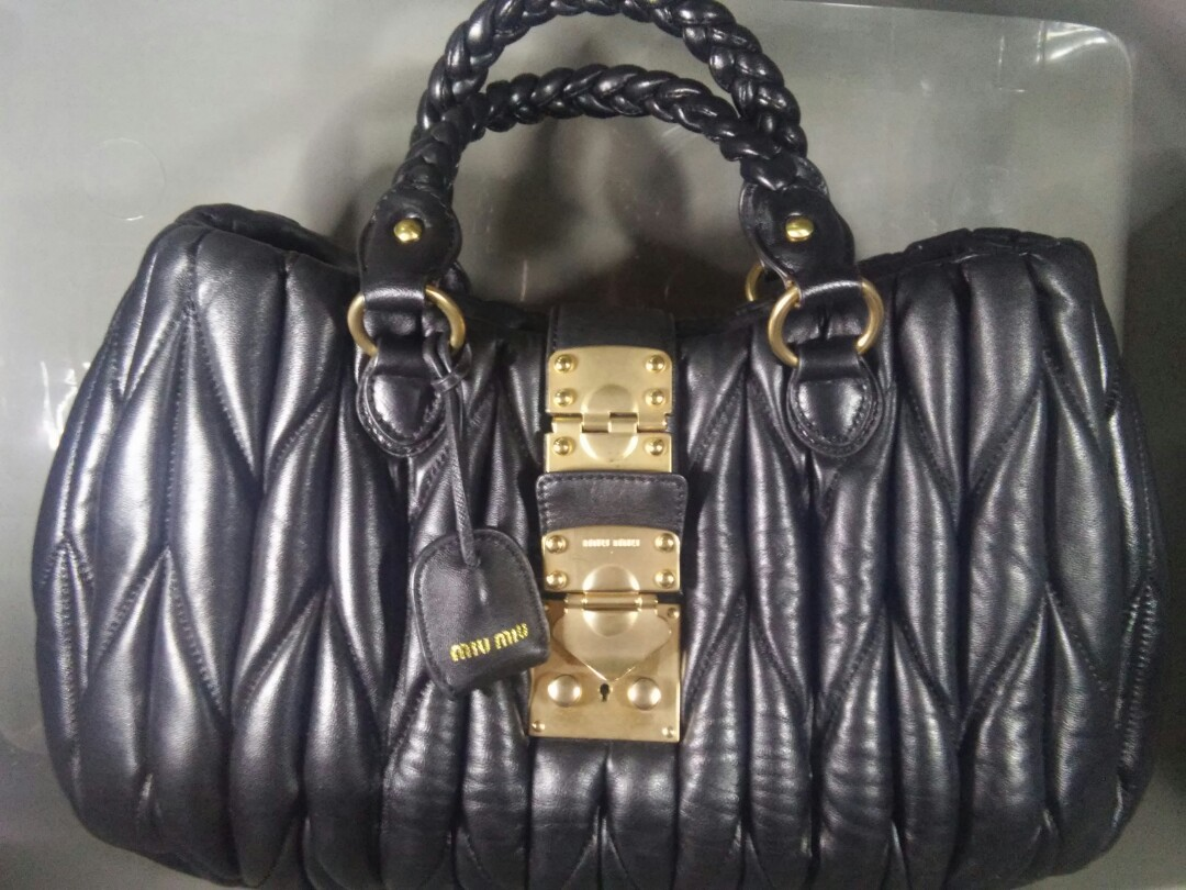 88ebe7dd1c9d PRICE CHANGED- Miu Miu Coffer Handbag