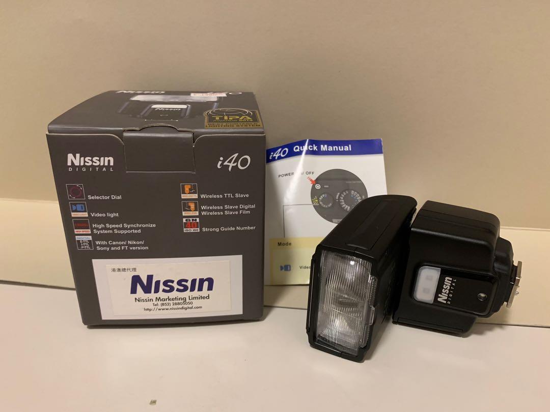 Nissin i40 flash for Nikon