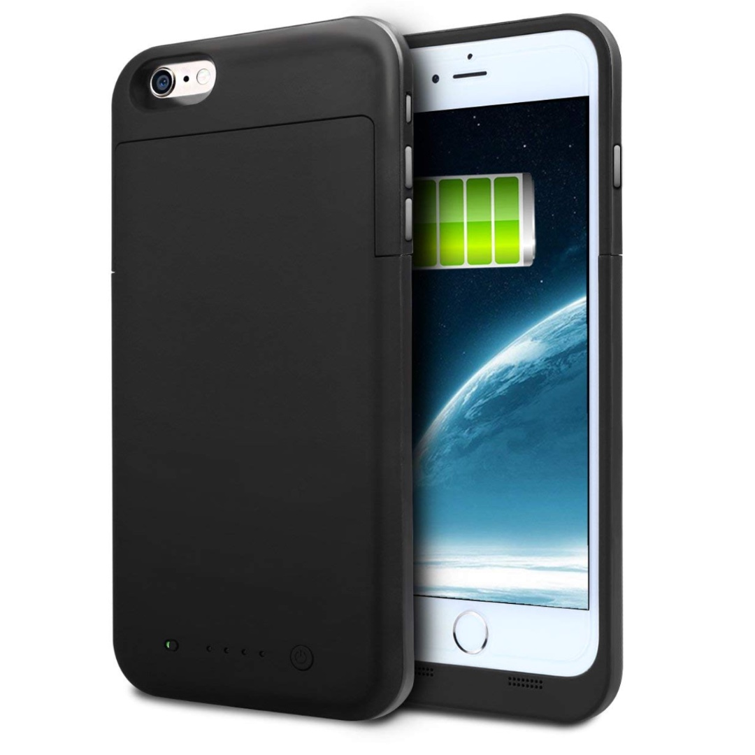 the best attitude 339fa 02c3e p9iPhone 6S Plus Battery Case, iPhone 6 Plus Battery Case, HianDier 6800mAh  Portable Rechargeable External Battery Case iPhone 6S 6 Power Bank Charger  ...