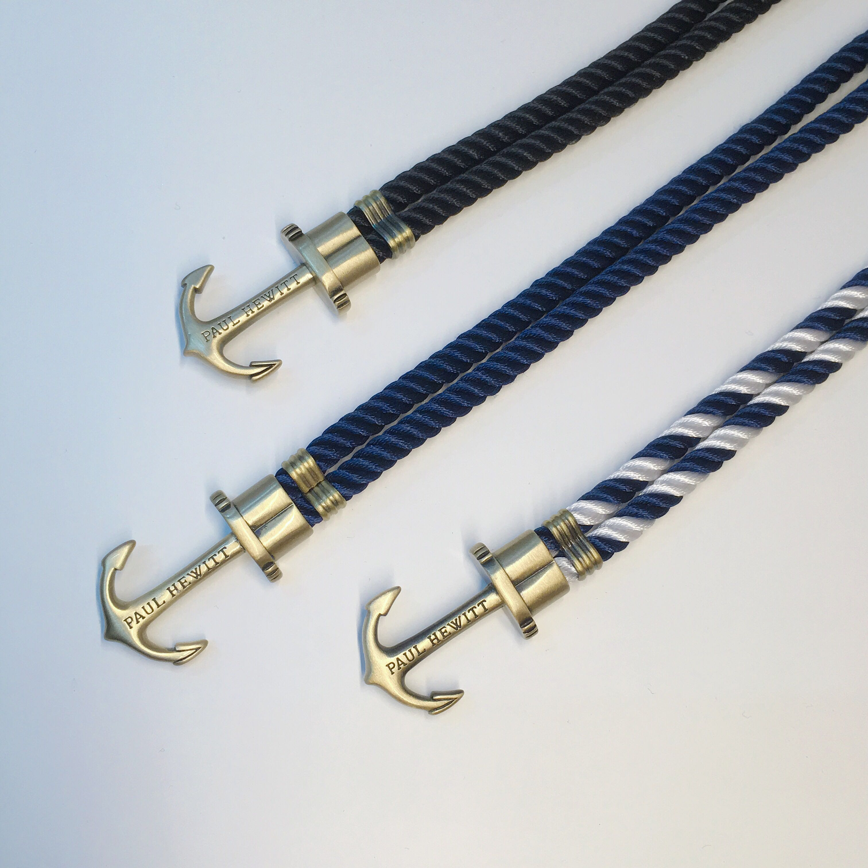 Paul Hewitt Phreps Brass Nylon Navy Black White Bracelet 手繩 手帶 手縺