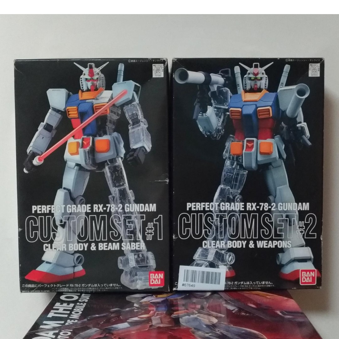 7625f7291af Perfect Grade Custom Set  1 and  2 for PG 1 60 RX 78-2 Gundam (Clear ...