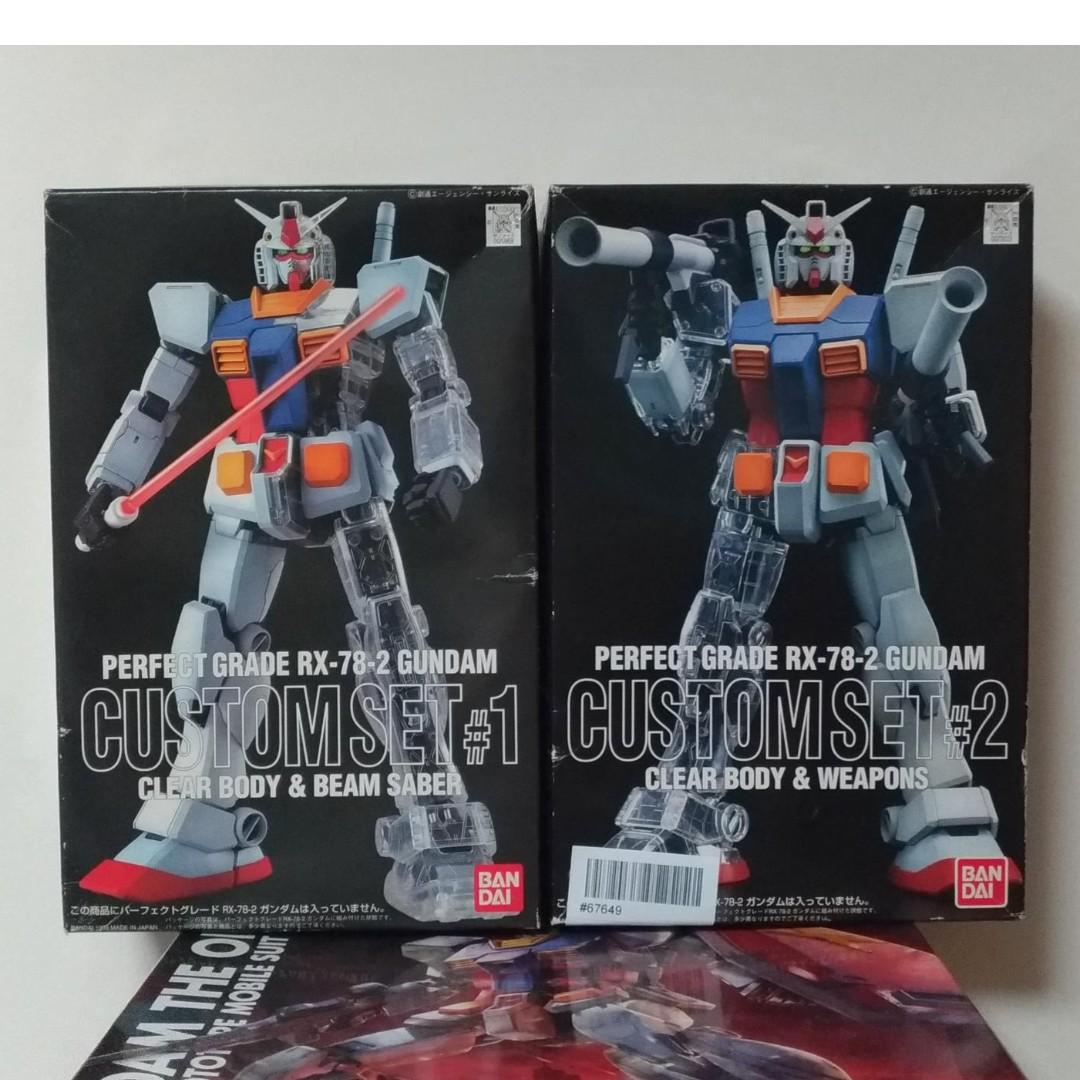 new arrivals 155a1 077d6 Perfect Grade Custom Set #1 and #2 for PG 1/60 RX 78-2 ...