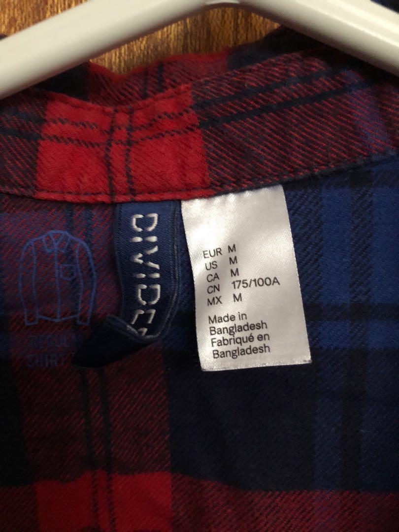 Plaid shirt (men's medium)