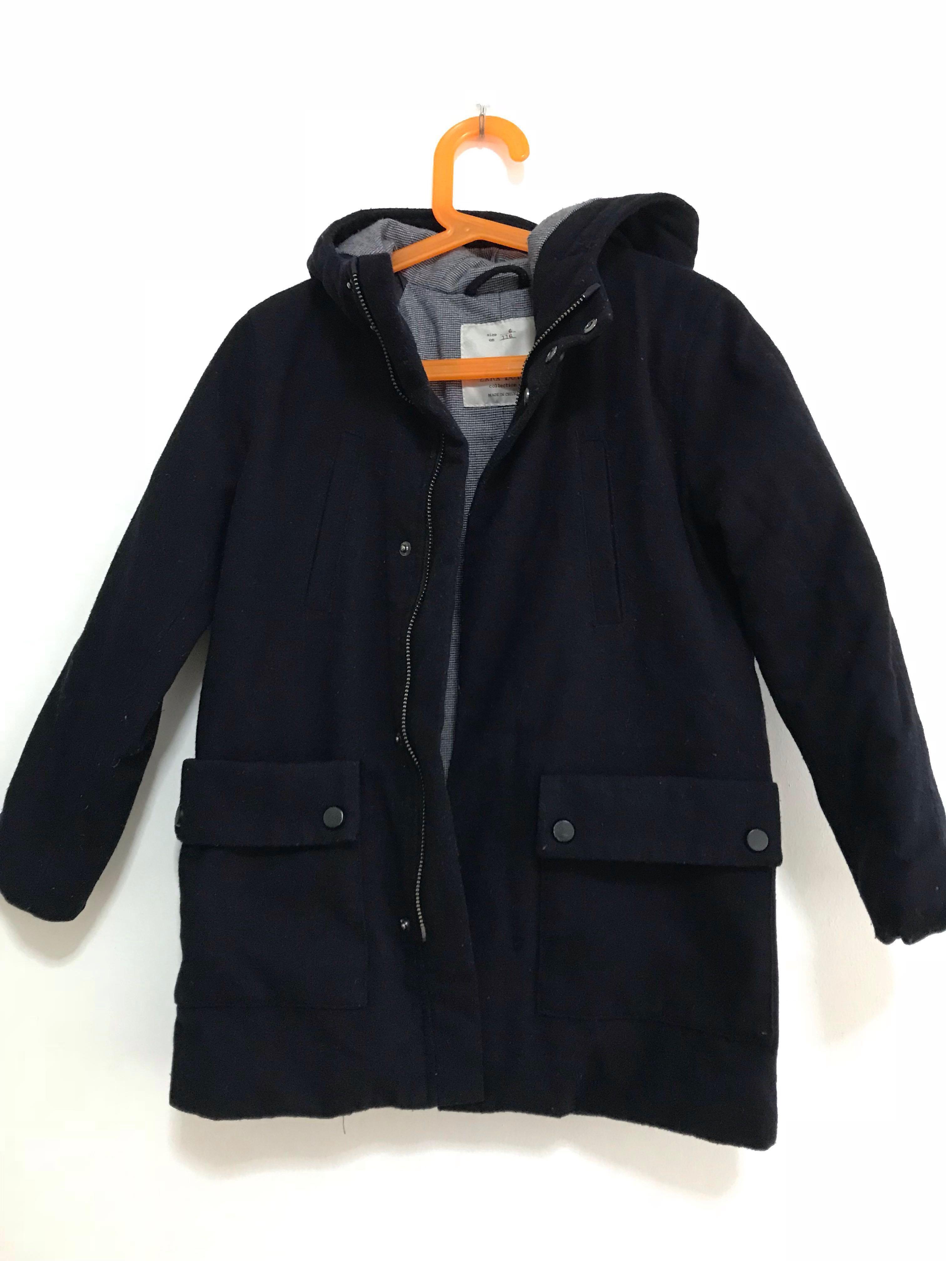 054ca162 Preloved Zara Boys Winter Coat, Babies & Kids, Boys' Apparel, 4 to 7 Years  on Carousell
