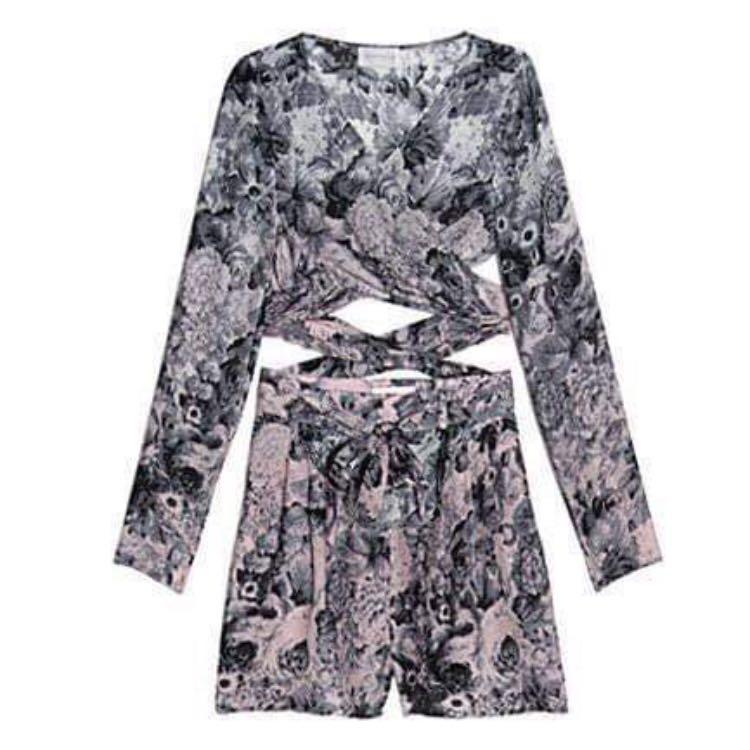 RARE: Zimmermann Vanishing Point Fleeting Wrap Playsuit (Size 0)