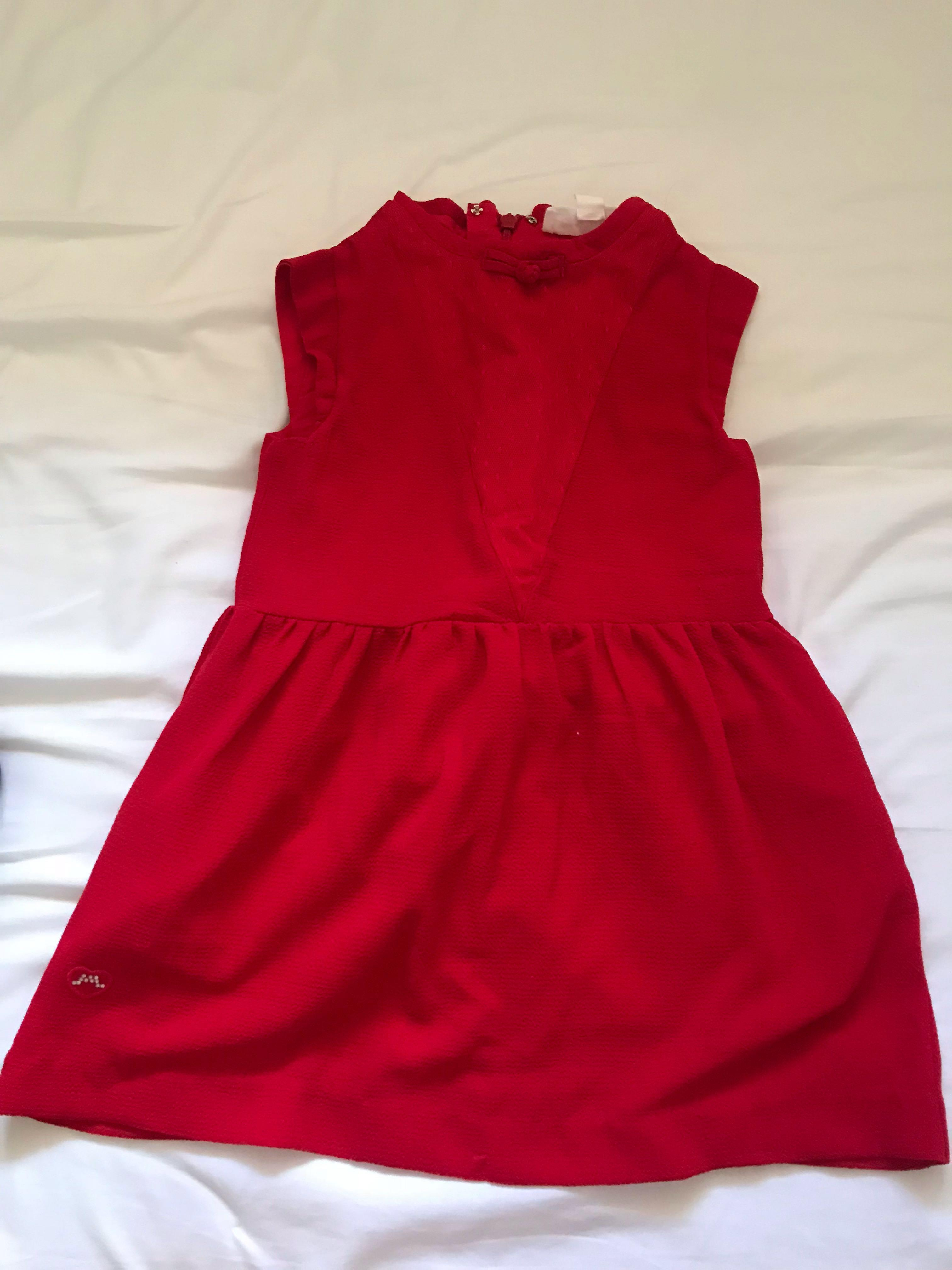 Red dress for 7 years old girl