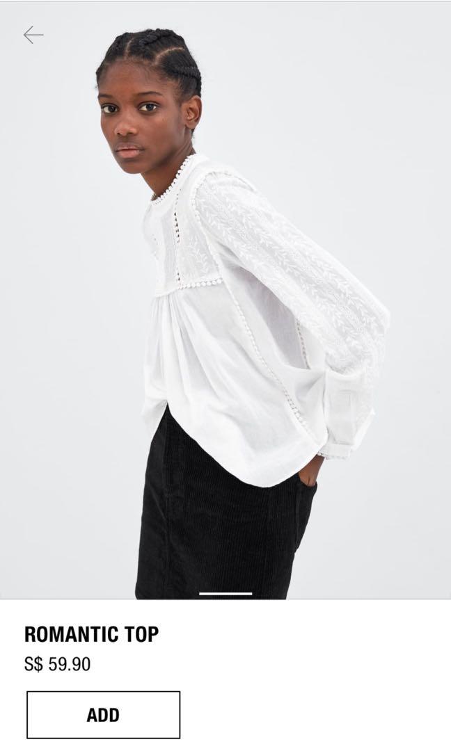 d73c53c0392bb Romantic Zara White Blouse