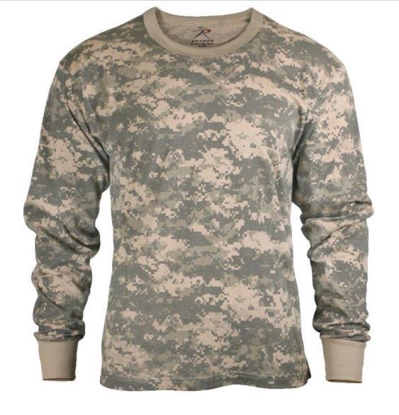 f2feddc6dcc49 Rothco Long Sleeved Camo T-Shirt, Men's Fashion, Clothes, Tops on ...