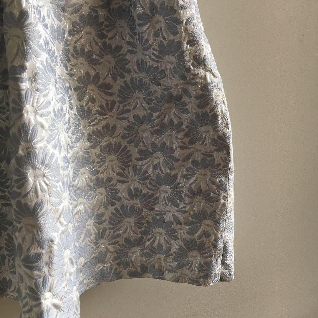 Strapless Baby Blue & Metallic White & Silver Strapless Dress   Size 8