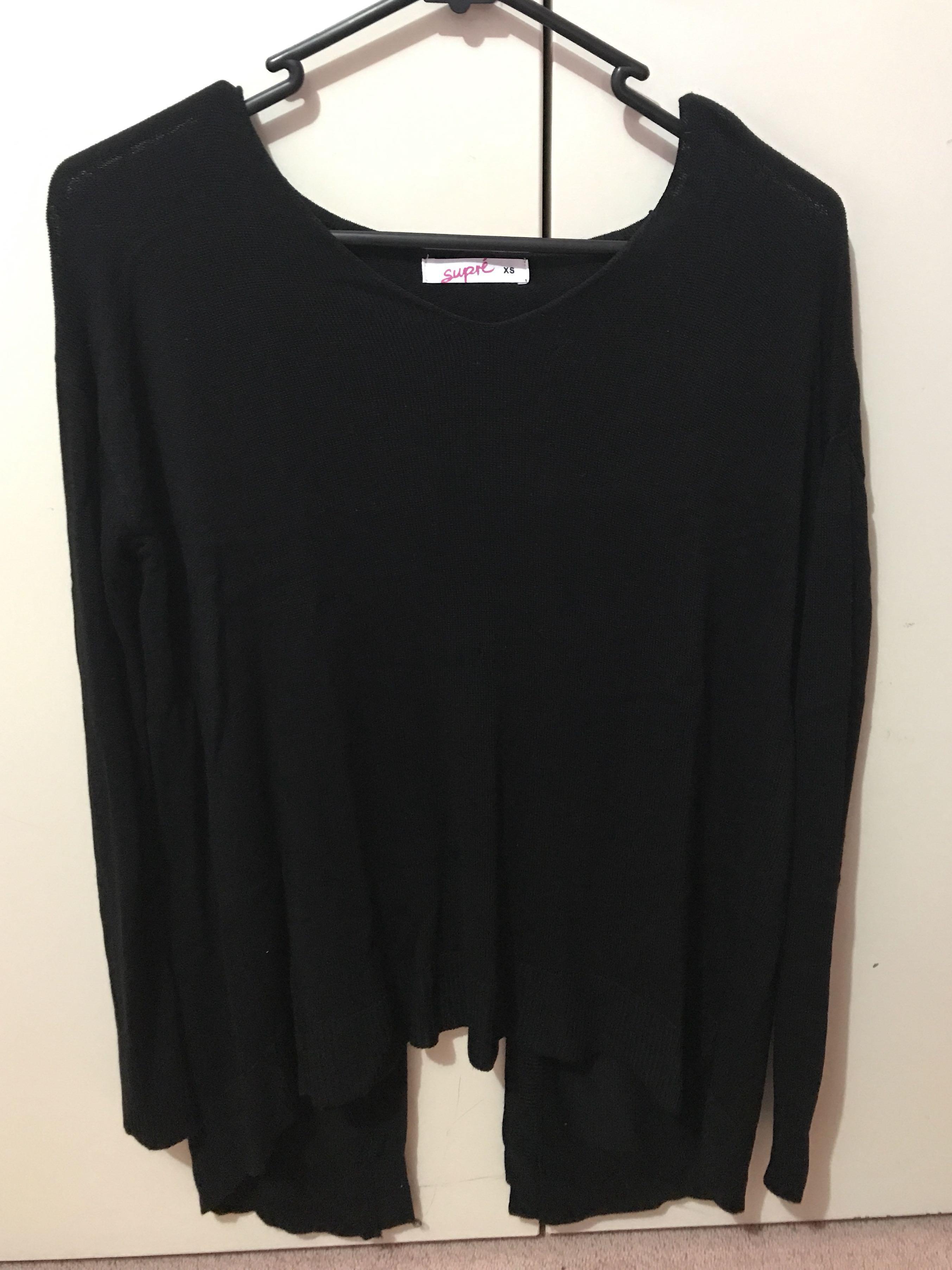 Supre black woollen long sleeve