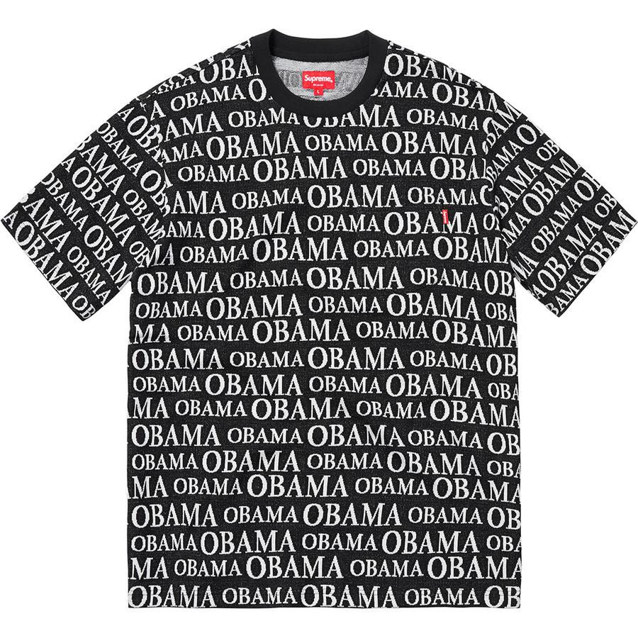29c14ae5 SUPREME OBAMA JACQUARD S/S TOP, Men's Fashion, Clothes, Tops on Carousell