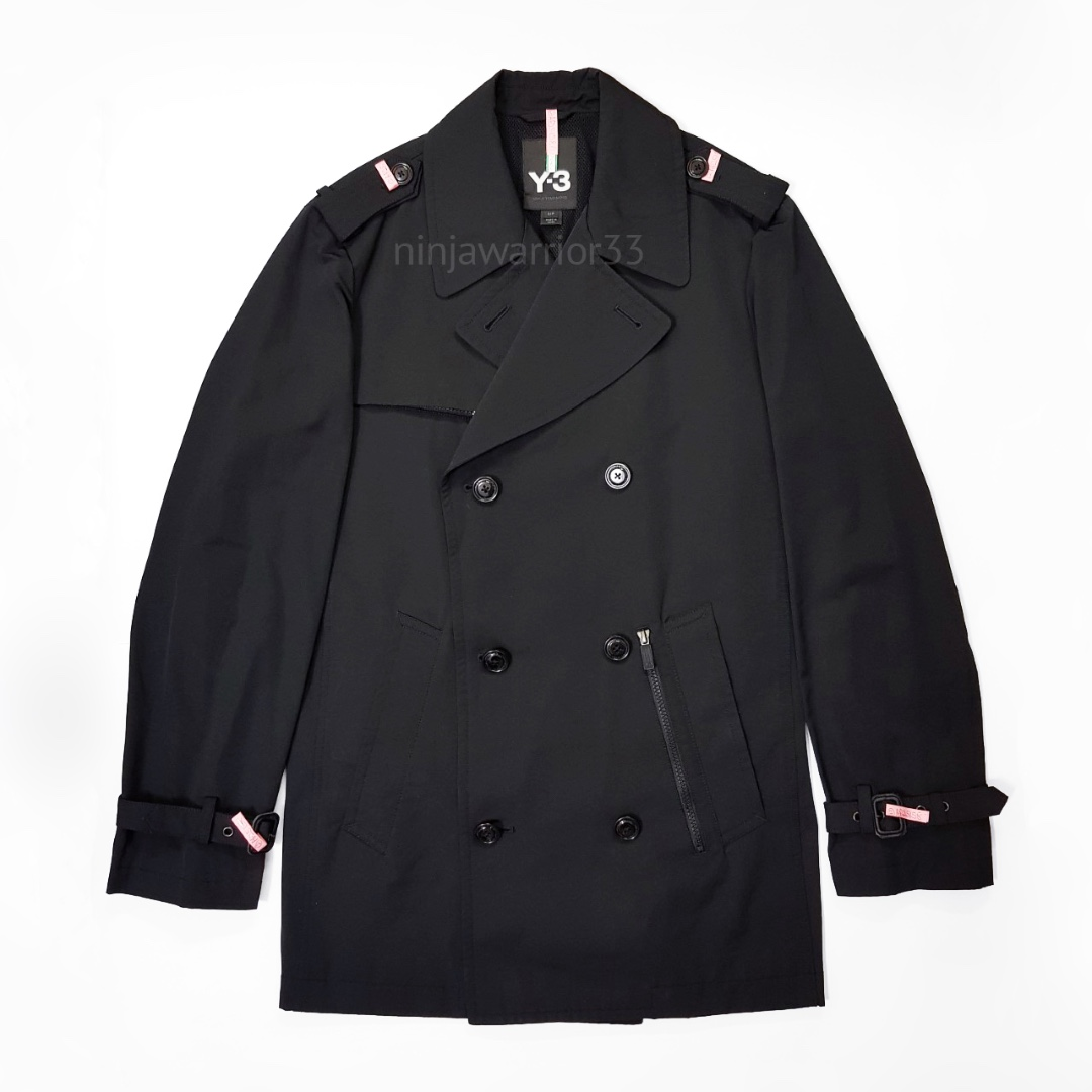 6e7b9355089 Y3 YOHJI YAMAMOTO Adidas Mens classic trench coat