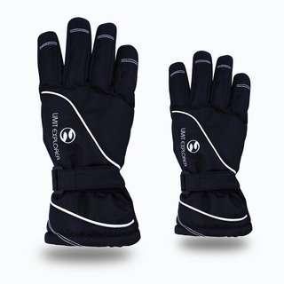 *INSTOCK* Children Black Skiing Gloves (Unisex)