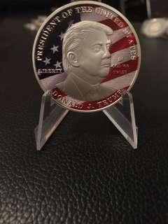 Silver plated Donal Trump