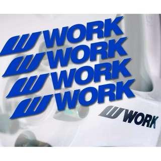 日本Work輪圈 品牌貼 反光貼 防水防曬 門把貼 油箱蓋貼 車側車尾貼 貼紙 車貼