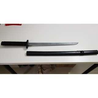 Short Black Katana Cosplay Sword Prop
