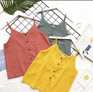 Mustard Vintage Sleeveless Top