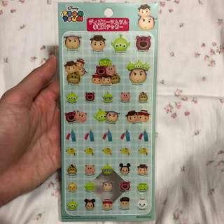 Disney Tsum Tsum Toy story schedule book seals stickers