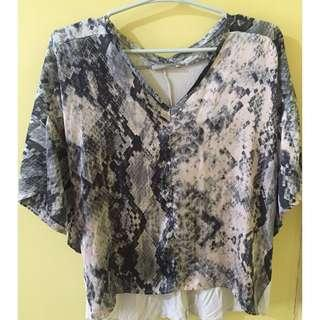 Zara Animal Print Top - FREE SF in Metro Manila! :)