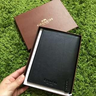COACH leather notepad