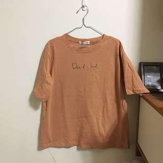 🚚 橘粉色五分袖T-Shirt