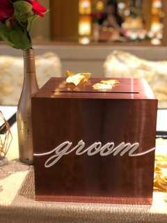 Rose Gold Acrylic Angbao Box for Rental