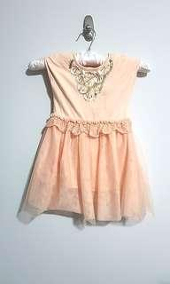 PL Cotton on bling sequin dress peach salmon tutu skirt size 1