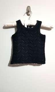 PL Black sleeveless camouflage top blouse size 3