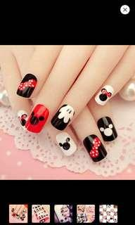 Mickey Mouse Artificial/Fake Nails