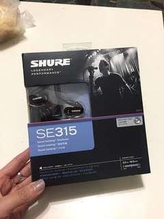 SHURE SE315單一驅動單元入耳式耳機
