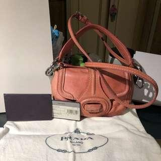 Authentic Prada Mini Sling Bag With Handle Pink