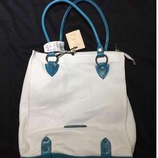 VALENTINA Italian White Leather Purse
