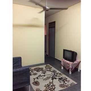Bilik Murah Mentari Court, unit cantik dan baru renovate