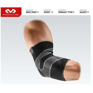 美國 MC DAVID 凝膠彈性護肘(網球肘痛或韌帶扭傷者皆適用) Elbow Sleeve/4-Way Elastic w/Gel Buttresses