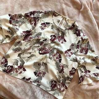 Aritzia BRAND NEW Wilfred floral blouse