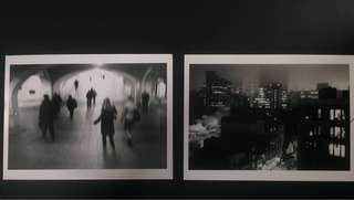 Set of 2 x Original Photographs of New York City Street Scene; French work late 90s.